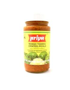 Priya Grated Mango Thokku Pickle [without garlic] | Buy Online at the Asian Cookshop